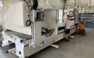 Anlieferung und Montage unseres zweiten CNC-Bearbeitungszentrums